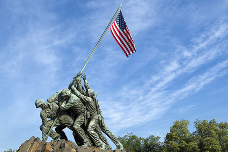 The historic and emotional Iwo Jima memorial in Arlington, Virginia. Stock Photo