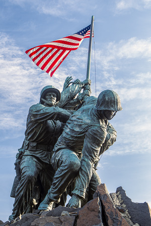 Marine memorial in Arlington, VA. Stock Photo