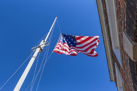 maryland flag: Great garrison flag at Ft. McHenry.