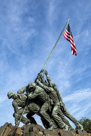 Iwo Jima memorial in Arlington, Virginia. Foto de archivo
