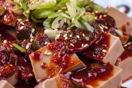 Korean side dish made from acorns called Dotori-muk.