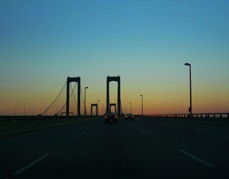 Sunset on Delaware Memorial Bridges