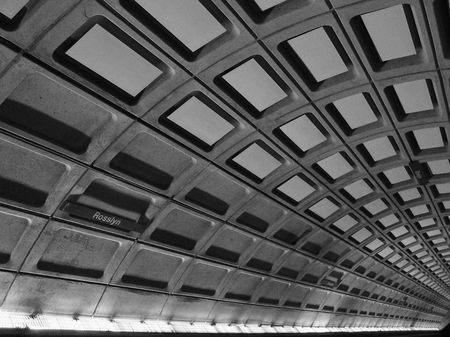 columbia district: Rosslyn Underground Metro Station, Washington DC