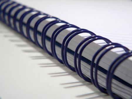 college ruled: Blue Sprial Notebook Stock Photo