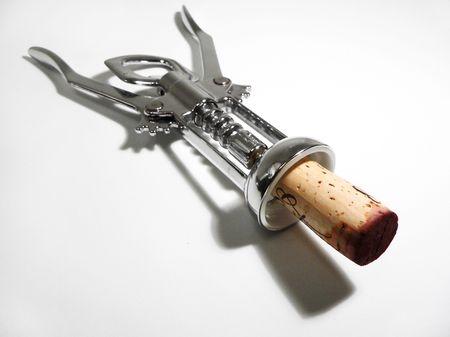 closed corks: Corkscrew with cork