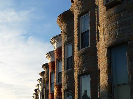 sun lit: row of sun lit row homes
