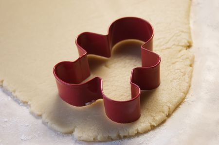 Cookie Cutter and Cookie Dough Stok Fotoğraf - 288287