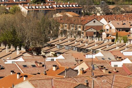 Roofs and chimneys in Spain