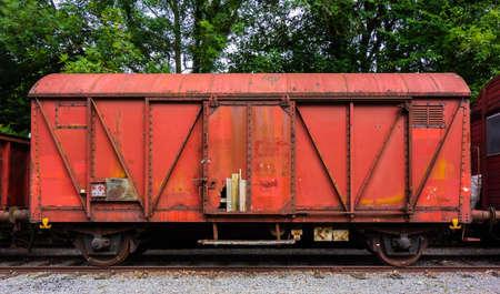 Wreck of a cargo rail wagon