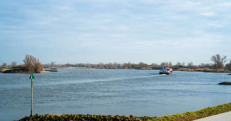 View over the river Lek in the Netherlands
