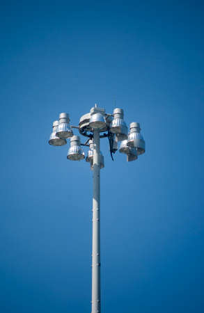 halide: Metal Halide Street Lighting on Blue Sky Background