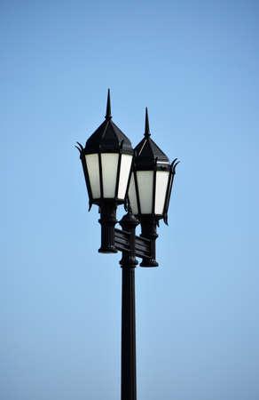 屋外の照明設備 写真素材