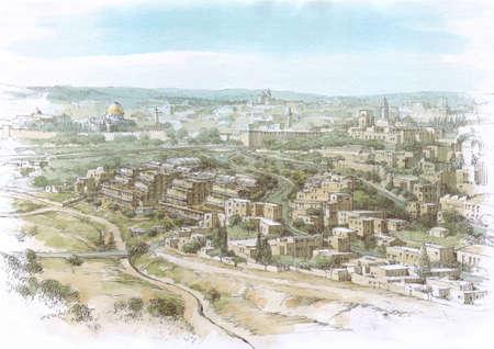 Jerusalem landscape - view of the Old City