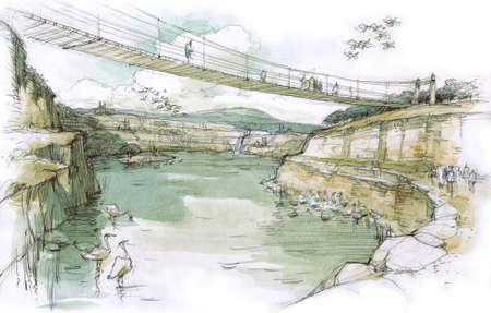 rivulet: Bridge over the lake