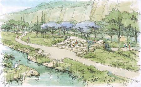 rivulet: creek in the park -2