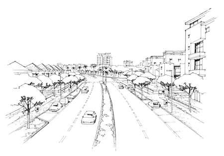building sketch: City panorama-2