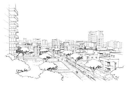 City panorama-4 Stock Photo