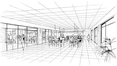 interior of the cafe