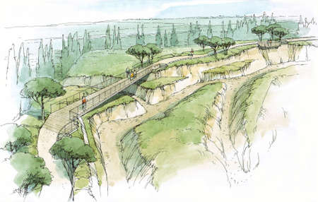 rivulet: bridge between the hills.