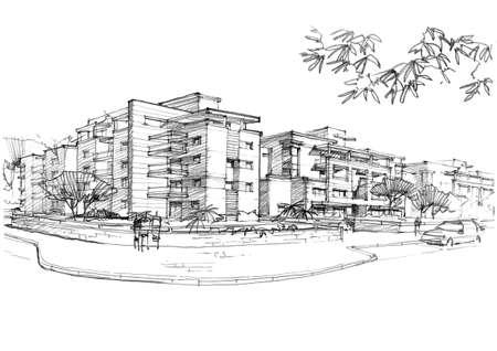 stedelijk gebied in een woonwijk. Stockfoto