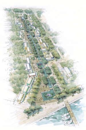 rivulet: seaside boulevard . Stock Photo