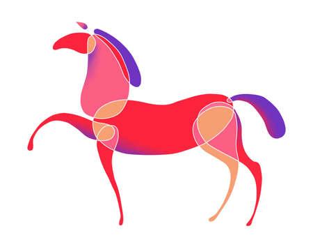 symbol grafic - colored horse is.