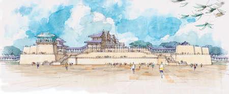 architectural fantasy - palace - china - 7 .
