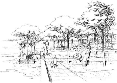 rivulet: sculpture Park  in  city- 3.
