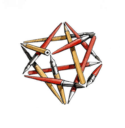 solids: Star tetrahedron of the brushes .