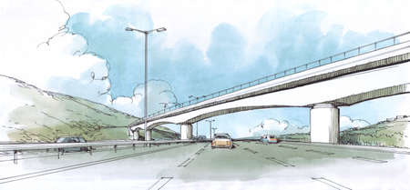 bridge over the road - 1.