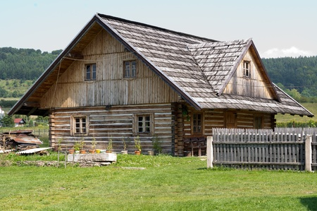 old wooden house, farm Editorial