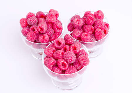 raspberry in cup Stock Photo