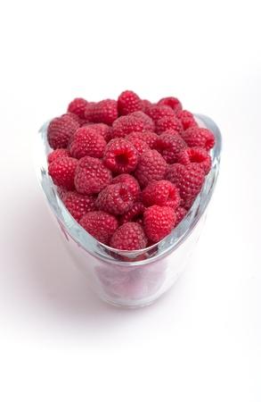 raspberries in cups  Stock Photo