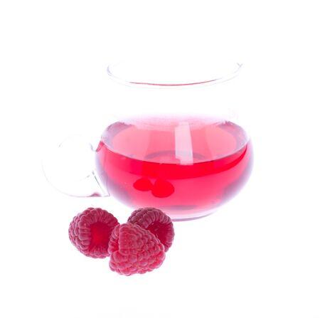 raspberry juice  Stock Photo