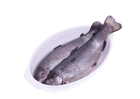 trout on a platter