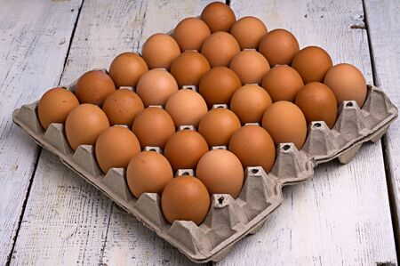 eggs, on the old, white planks