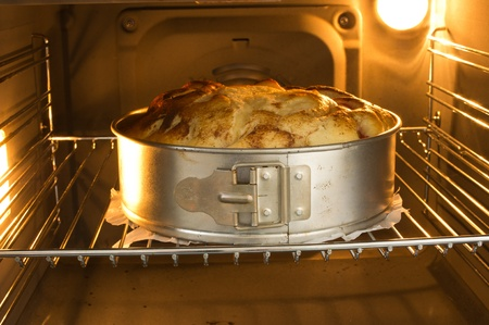 baking in oven Stock Photo