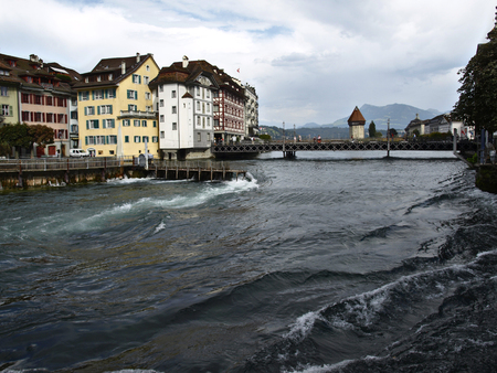 Bridge in Luzern, Switzerland photo