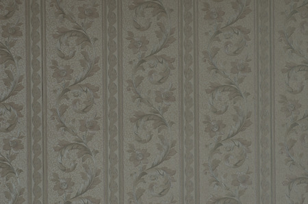 pattern of old, bright wallpaper on the wall