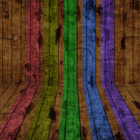 Grunge rainbow stripes background