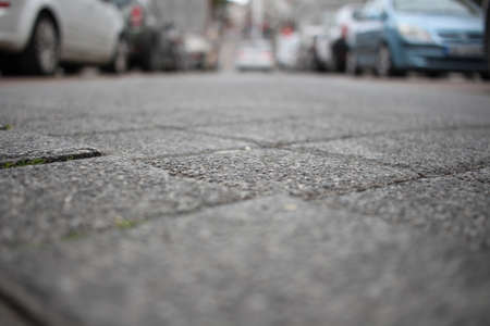 Ground of car parked street