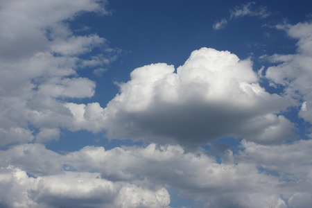Cloudy Blue Sky Stok Fotoğraf