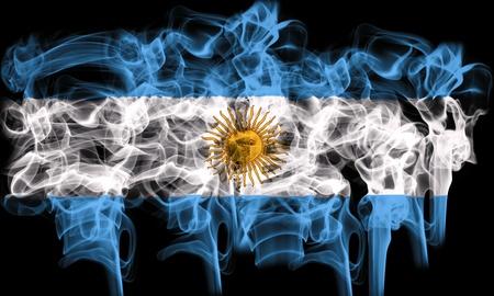 bandera argentina: Bandera de fumar de argentina Foto de archivo