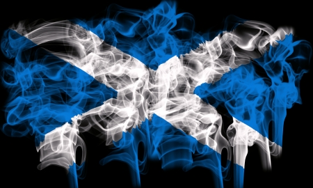 scotish: smoking flag of scotland
