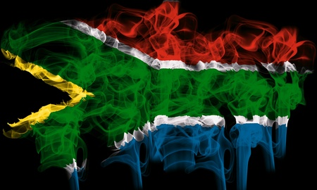 smoking flag of south africa photo