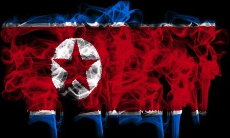 smoking flag of noth korea