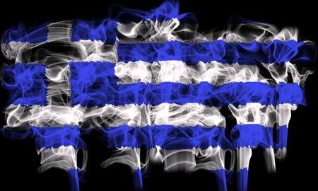 smoking flag of greece