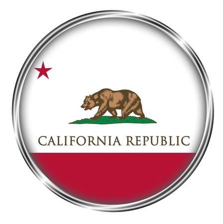 california: button badge of california