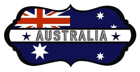 australia shield  Stock Photo