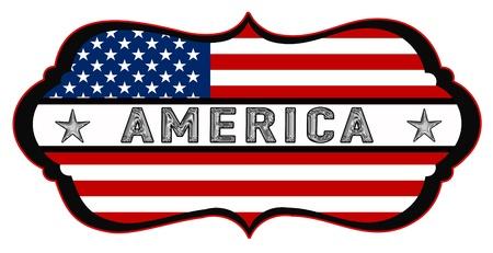 america shield Stock Photo